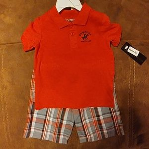 3t polo and shorts set